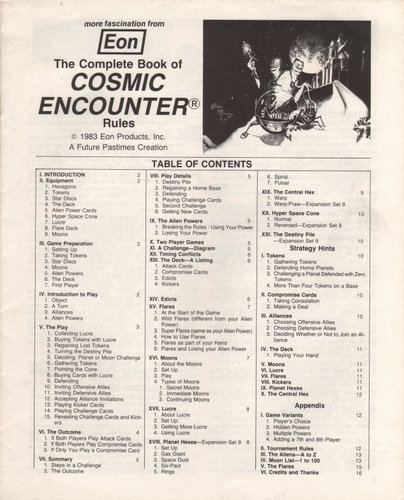 Complete Book of Cosmic Encounter Rules (Booklet)