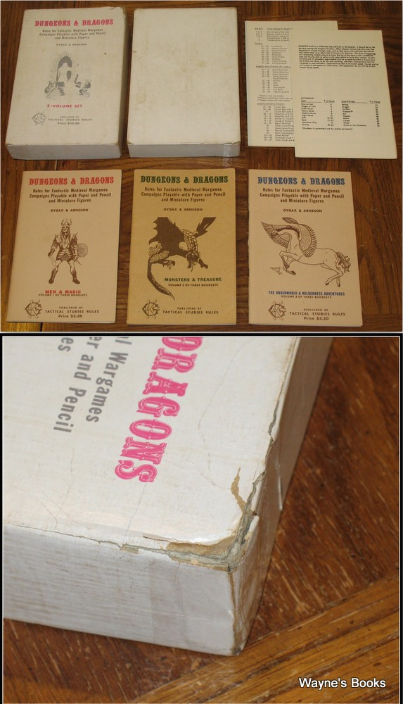 Dungeons & Dragons (4TH PRINT White Box), Gary Gygax & Dave Arneson