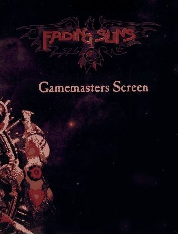 Fading Suns Gamemasters Screen and Weapons Compendium
