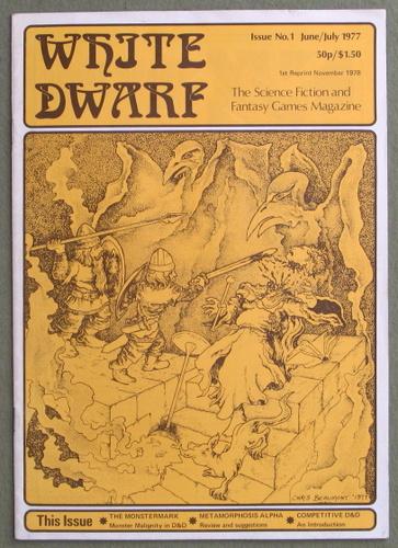 White Dwarf Magazine, Issue 1 (1st Reprint Edition)
