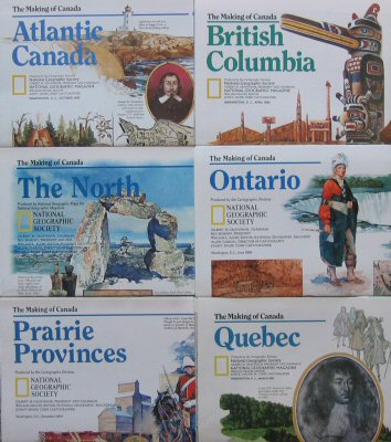 The Making of Canada (National Geographic 6 Map Set)