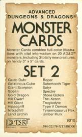 Monster Cards: Set 2