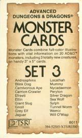 Monster Cards: Set 3