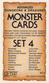 Monster Cards: Set 4