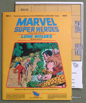 Marvel Map Of New York.Ma Mh Module Series Marvel Super Heroes Wayne S Books Rpg