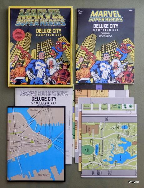 Marvel Map Of New York.Marvel Super Heroes Tsr Wayne S Books Rpg Reference