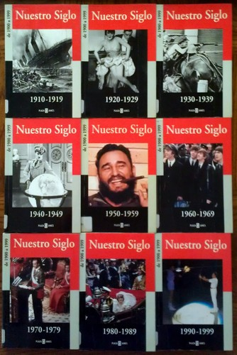 "Nuestro Siglo 9-book Set, 1910-1999 (Spanish: ""Our Century"")"