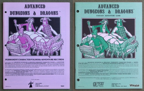 Advanced Dungeons & Dragons (AD&D) Accessories - Wayne's