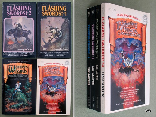 Flashing Swords, books 1 through 4, Lin Carter