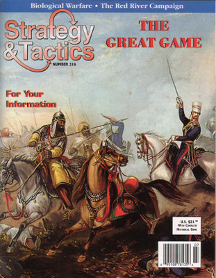 Strategy & Tactics Magazine #216, with Asia Crossroads, the Great Game, Board Game